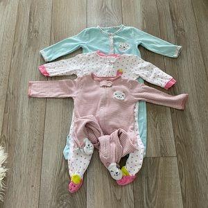 Other - 9 month zip up pajama bundle